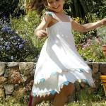 patron gratuit robe fillette 10 ans