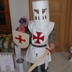 patron gratuit tunique chevalier